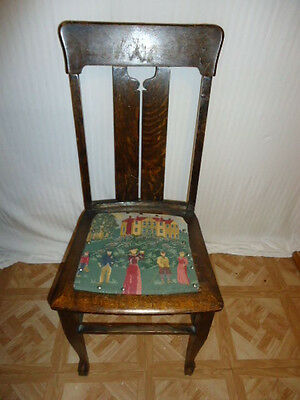 Antique Wood Side Chair
