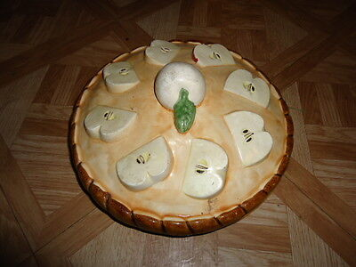Beautiful Decorative Ceramic Apple Pie Tray/ Carrier W/ Lid; Exc Cond Heirloom & Pie Plates Bakeware Kitchenware Kitchen \u0026 Home Collectibles Page ...