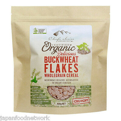 Certified Organic Delicious Buckwheat Flakes - Wholegrain Cereal 400g