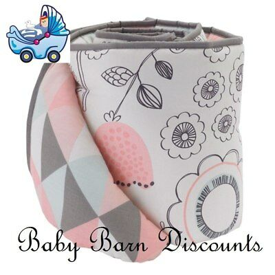 NEW Living Textiles - 2 Pce Bumper Set - Sparrow from Baby Barn Discounts
