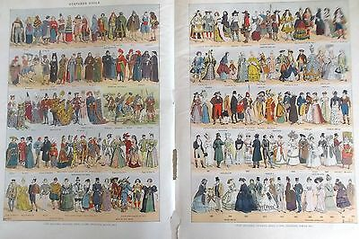 PAGE D'ILLUSTRATIONS -    COSTUMES CIVILS ref. 21180