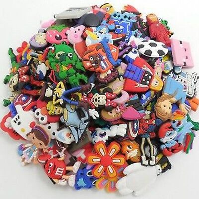 50pcs Lot Different Random PVC Shoes Charms fit for Croc & Jibbitz Wristbands