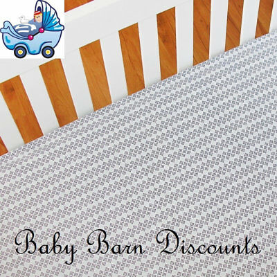 NEW Living Textiles - Fitted Sheet - Dots/Jabali from Baby Barn Discounts