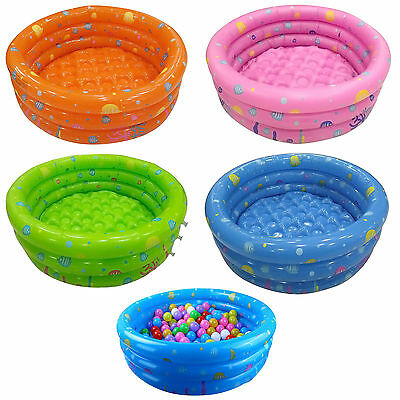 80CM Inflatable 3 Ring Round Swimming Swim Pool Toddler Children Kids Outdoor