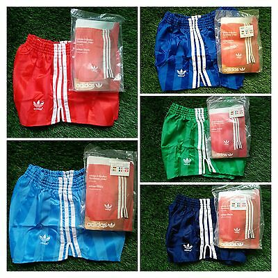 NEW Adidas Vintage Shorts Vinyl Shiny Chile Runner Sprinter West Germany 70 80's