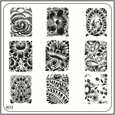 MoYou Nail Fashion Square Image Plate 403 Vintage Style Art Stamping Template
