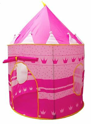 Princess Castle Indoor/Outdoor Use Girls Pink Toy Play Tent Playhouse