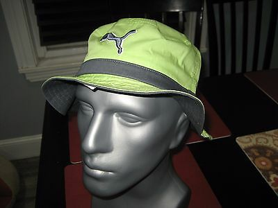 Mens womens Puma The Varial Bucket Hat Lime Green Size L xl Relaxed Fit 8d10141d0e79