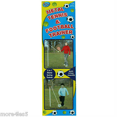 A to Z 2 In 1 Football Soccer & Tennis Trainer Set Kids Outdoor Game Garden New
