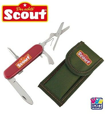 HAPPY PEOPLE 19316 Scout Kindertaschenmesser Funktions-Taschenmesser 4Funktionen