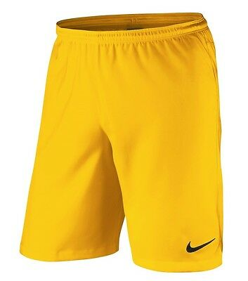 Kids 12 13 Years NIKE Laser II Woven shorts Pro Gold Yellow Football 588437 BOYS
