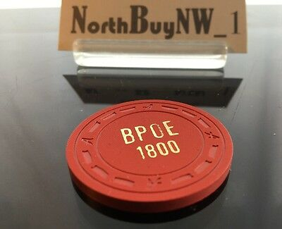 Vintage RED BPOE $1 Gambling Chip Illegal Poker 1800 ELKS Lodge Red *RARE*
