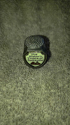RARE** Pewter Historic Towne of Smithville thimble Souvenir_C3