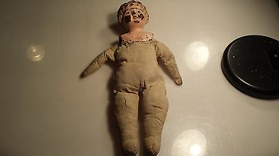 Antique German Minerva Tin Head Doll