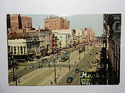 Old Postcard. NEW ORLEANS, LOUISIANA, CANAL STREET, JAO-6
