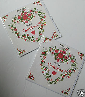 GIRLFRIEND BIRTHDAY CARDS x 12, JUST 25p! GLITTERED, WRAPPED (B188