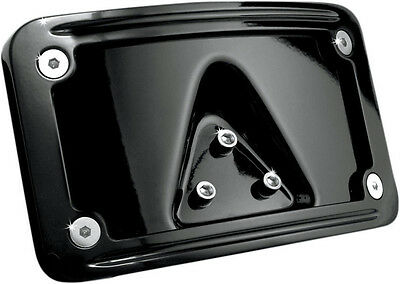 Kuryakyn Curved Laydown License Plate Mount Harley License Plate Mount # 3148