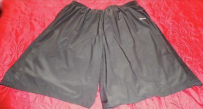 """NEW """"NIKE"""" MENS ATHLETIC RUNNING SOCCER DRI-FIT BLK LINED SHORTS Sz 2XL=REDUCED"""