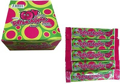 BULK LOLLIES x 60 TOFFEE APPLE CHWEY CANDY BARS PARTY FAVORS CANDY BUFFET SWEETS