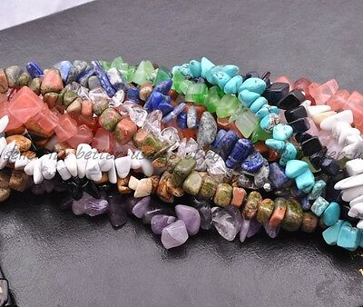 "Natural  Freeform Chips Jewelry Making Loose Gemstone Beads Strand 30""-34"""