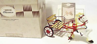 NEW IN BOX Hallmark Kiddie Car Classics '40's MOBO SULKY DieCast Horse TOY