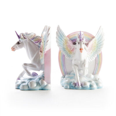 Flying Unicorn Bookends with Rainbow, Great Girls Childrens Gift Idea!