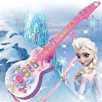53CM SENSOR DISNEY Frozen Pink Music Guitar Light & Sound Kids Toy