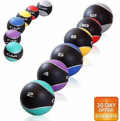 CAP Barbell Rubber Medicine Ball 10 lbs Weighted Fitness Ball New