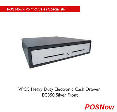 *NEW* VPOS Heavy Duty Electronic Cash Drawer EC350 Silver Front