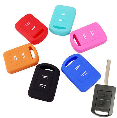 Fit For Opel Corsa Combo Meriva Silicone Key Remote Holder Case Fob Cover Shell