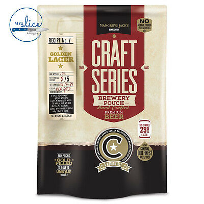 Mangrove Jack's Craft Series Golden Lager Pouch - 1.8kg - Home Brew • AUD 29.90