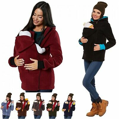 Zeta Ville - Women's Top Maternity Hooded Sweatshirt Babywearing Carrier - 032c