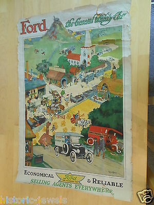 Ford Motors poster 1917 EXTRA RARE