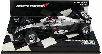 Minichamps McLaren Mercedes MP4-18 Test Car 2003 - Kimi Raikkonen 1/43 Scale
