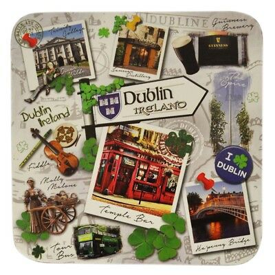 Destination Dublin Coaster, Showing Famous Landmarks And Icons Of Dublin