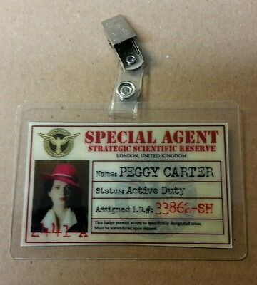 Agent Carter ID Badge -SSR Special Agent Peggy Carter cosplay prop costume hat