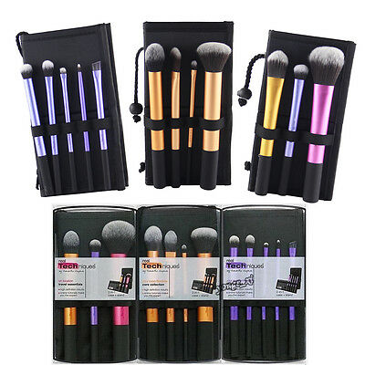 Real Techniques  Make up Brush Set Starter Kit Core Collection Travel Essentials