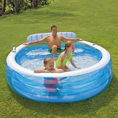 INTEX Swimm Center Family Lounge Pool 224x76cm Familienpool Schwimmbecken