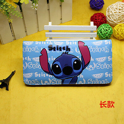 Fashion Stitch Face Anime Cartoon Wallet Long PU Leather Zip Purse