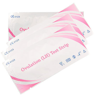 20pcs Urine Ovulation Fertility Easy Test Strips Clear Result FP chart