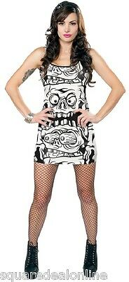 130306 Black   White Melting Monsters Tank Dress Sourpuss Punk Goth  XX-Large 2XL afaed8607