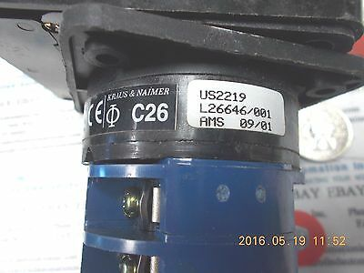 Kraus & Naimer C26/US2219/L26646/001 Rotary Selector Switch 2 Position