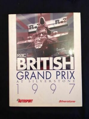 RAC BRITISH Grand Prix At Silverstone 1997 - Hardback Book with DJ- (739)