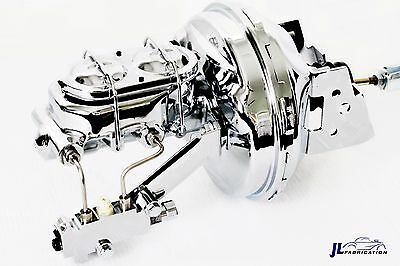 "70-81 Chevy Camaro Chrome 9"" Booster w/ Master Cylinder & Proportioning Valve"