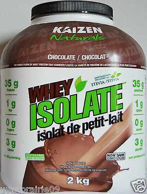 Kaizen Whey Isolate Protein Drink Mix 2kg Sweetened w/ Stevia Chocolate Flavour