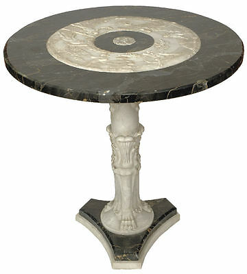Neoclassical Italian Carved Marble Pedestal Center Table