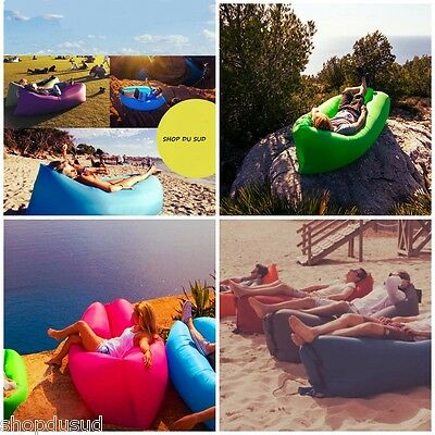 LOT DE 2  LAY BAG Canapé Gonflable Plage Randonnée Camping Piscine Hamac Détente