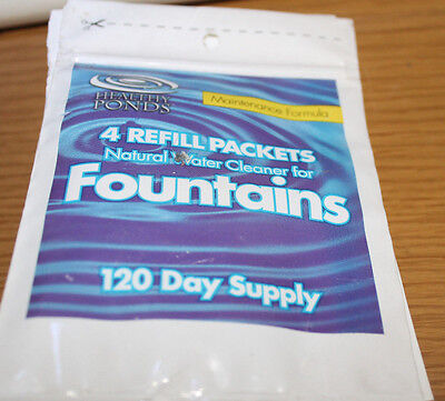 4 pack Healthy Ponds 10145 Fountain Water Cleaner Refill Each treats 25 gallons