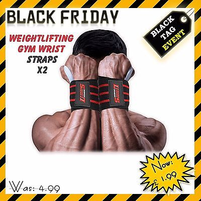 Weightlifting Gym Wrist Wraps Straps Bandages Body Building Excercise Training
