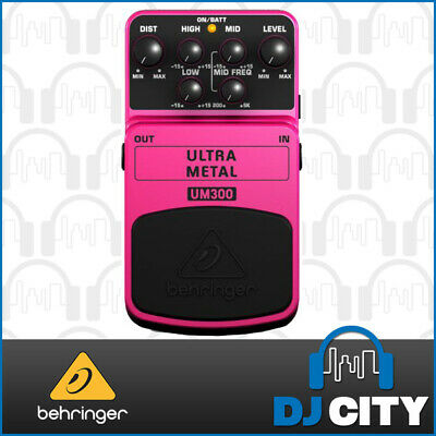 Behringer Guitar Effects FX Pedal Ultra Heavy Metal UM300 3-Band EQ & Distortion